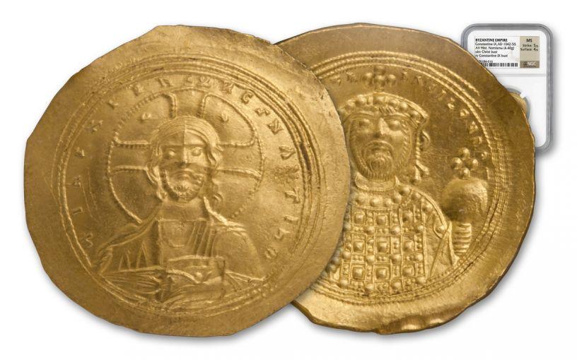 Byzantine Empire Gold Nomisma of Constantine IX NGC MS