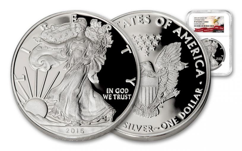 2016-W 1 Dollar 1-oz Silver Eagle Proof NGC PF69