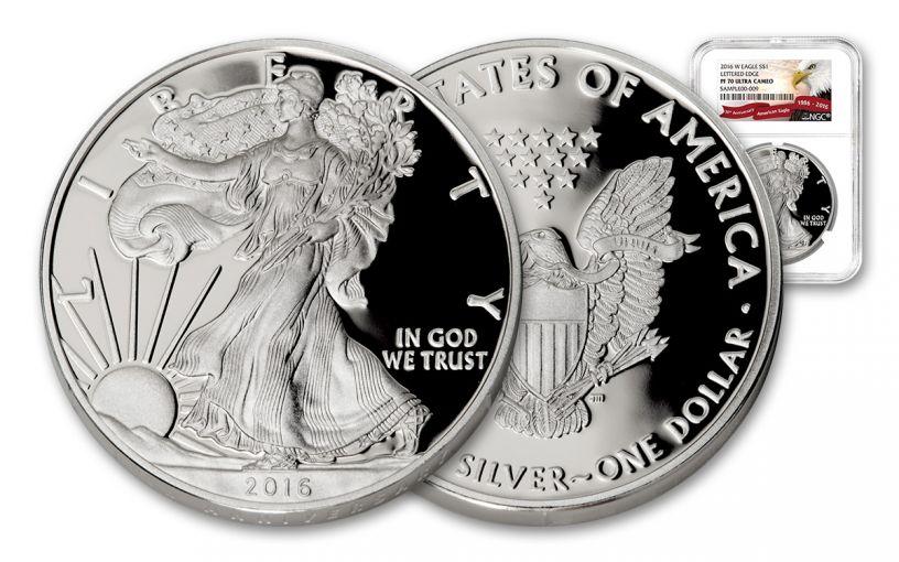 2016-W 1 Dollar 1-oz Silver Eagle Proof NGC PF70