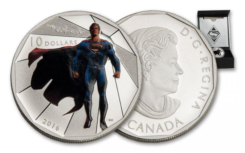 2016 Canada 10 Dollar 1/2-oz Silver Superman Matte Proof