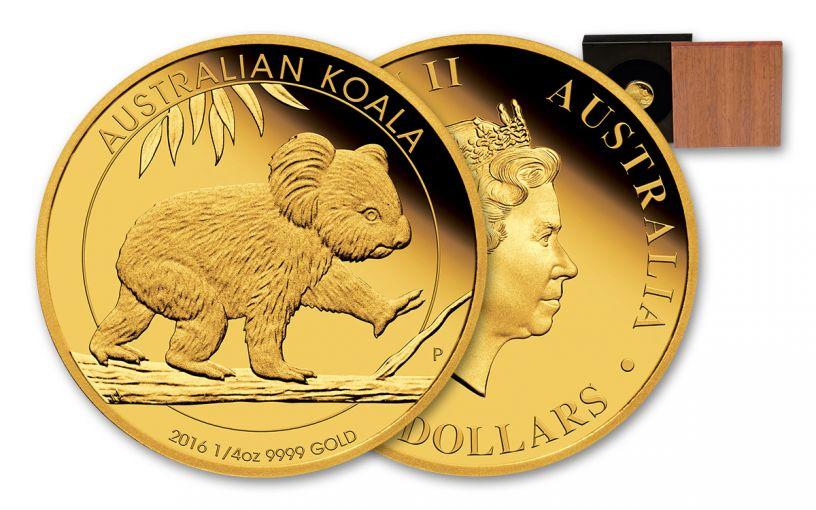 2016 Australia 25 Dollar 1/4-oz Gold Koala Proof