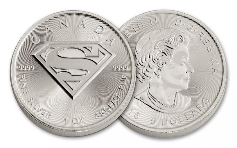 2016 Canada 5 Dollar 1-oz Silver Superman Uncirculated