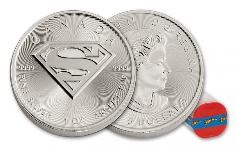 2016 Canada 5 Dollar 1-oz Silver 25 Piece Set Superman Uncirculated