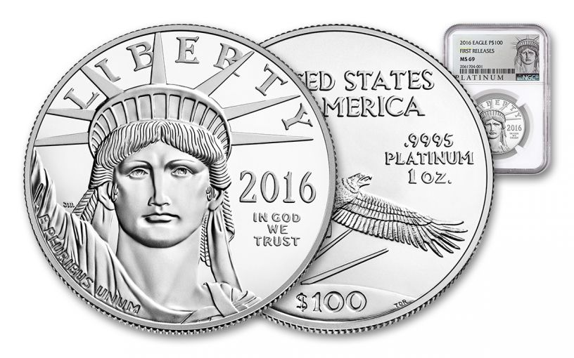 2016 100 Dollar 1-oz Platinum Eagle NGC MS69 First Release