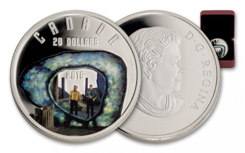 2016 Canada 20 Dollar 1-oz Silver Star Trek The City on The Edge of Forever Proof