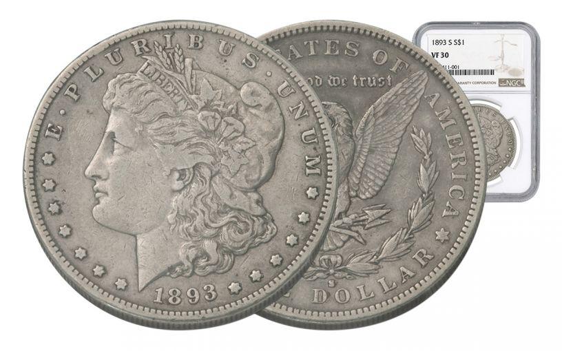 1893-S Morgan Silver Dollar NGC VF30