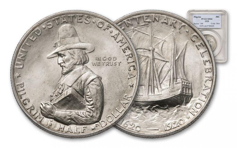 1922-P Silver Half Dollar Pilgrim NGC/PCGS MS66