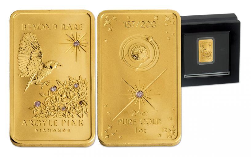 2015 Australia 1-oz Gold Bar Argyle Pink Diamond Proof