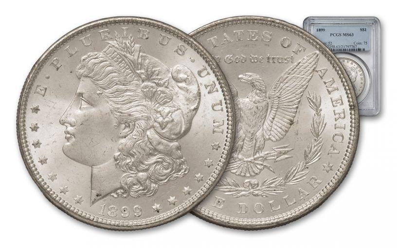 1899-P Morgan Silver Dollar PCGS MS63