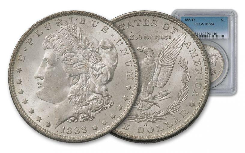1888-O Morgan Silver Dollar PCGS MS64