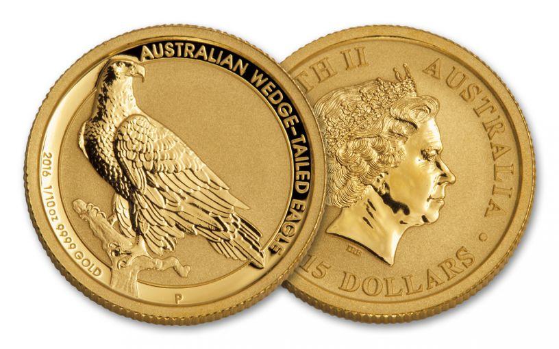 2016 Australia 1/10-oz Gold Wedge Tailed Eagle