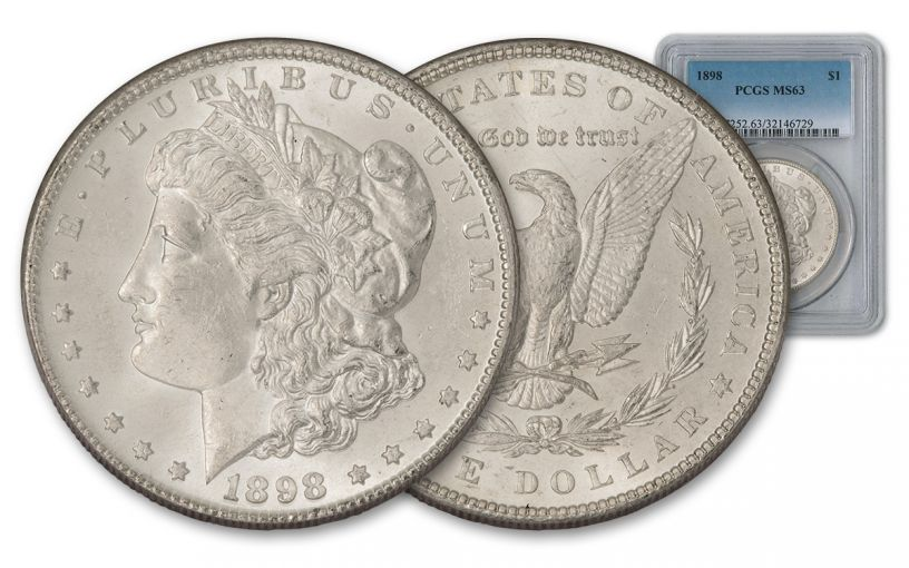 1898-P Morgan Silver Dollar PCGS MS63