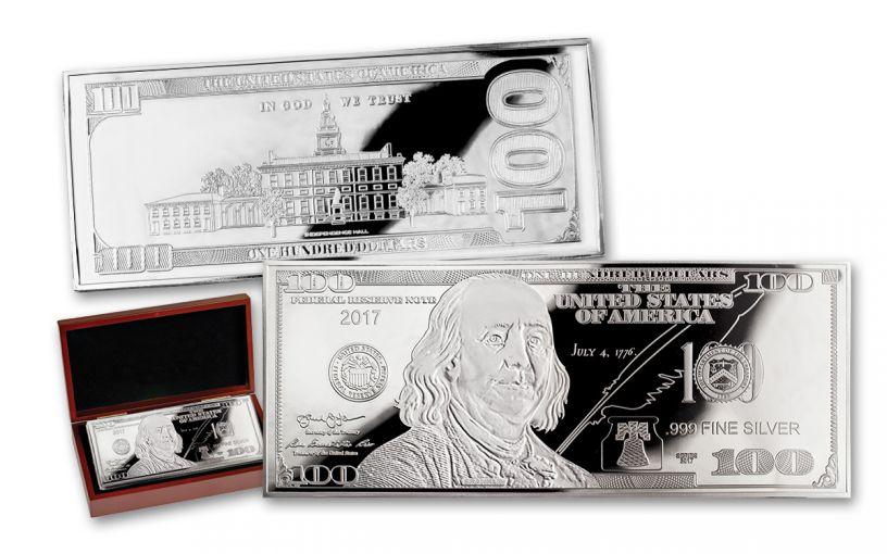 2017 100 Dollar 4-oz Silver Franklin Proof
