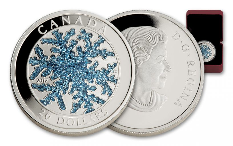 2017 Canada 20 Dollar 1-oz Silver Snowflake Proof