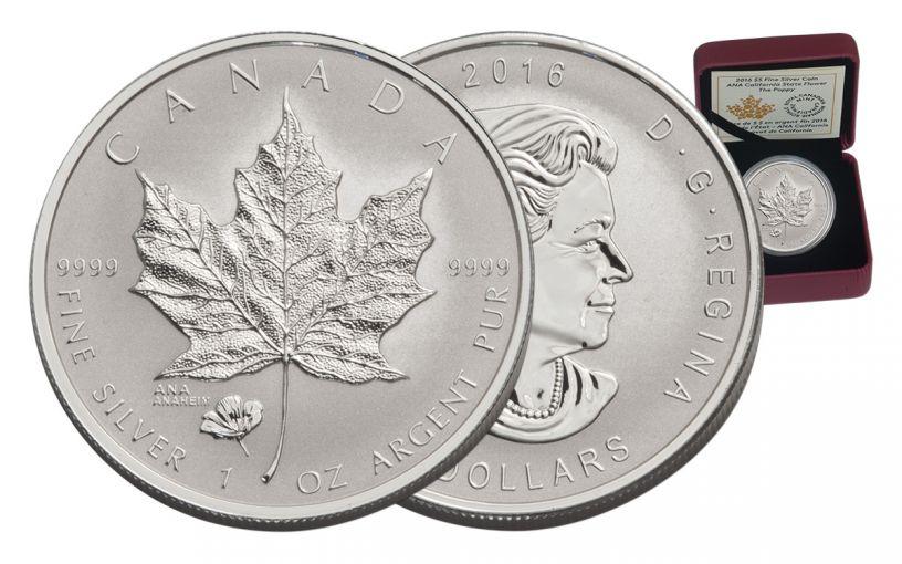 2016 Canada 5 Dollar 1-oz Silver ANA California The Poppy Flower Proof