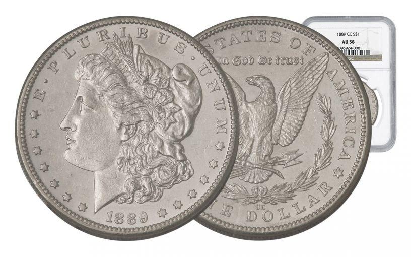 1889-CC Morgan Silver Dollar NGC AU58