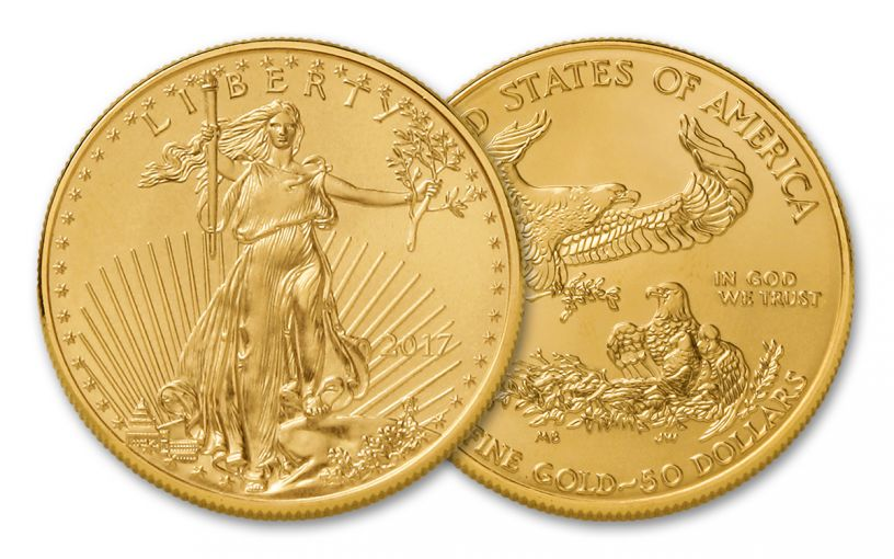 2017 50 Dollar 1-oz Gold Eagle BU