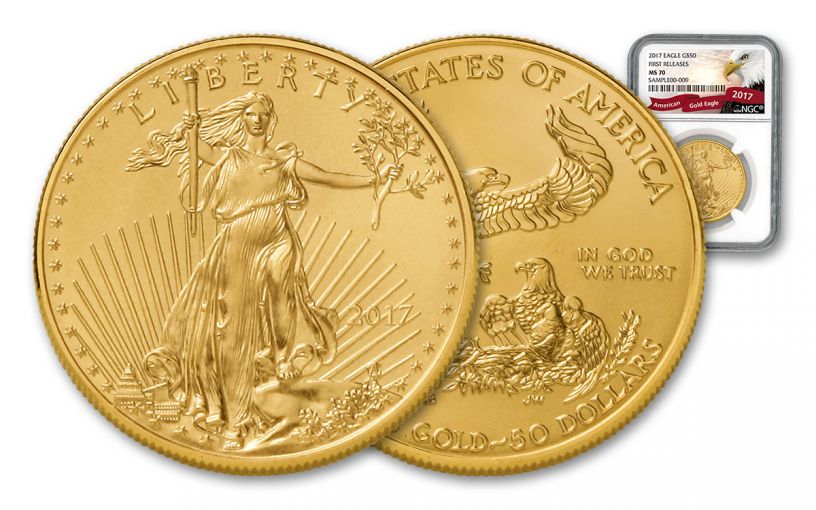 2017 50 Dollar 1-oz Gold Eagle NGC MS70 First Releases