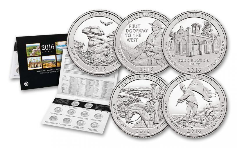 2016 America the Beautiful Quarters 10 Pc Uncirculated Set