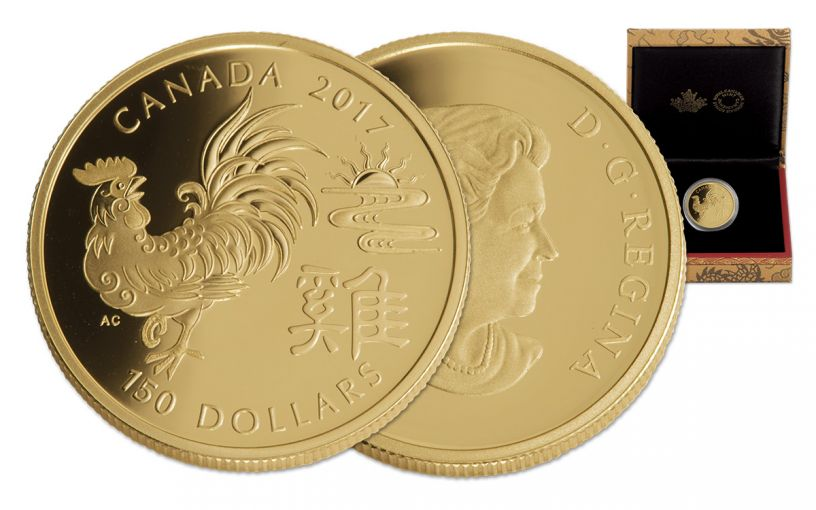 2017 Canada 150 Dollar Gold Year of the Rooster Proof