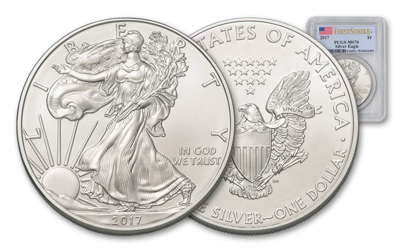 2017 1 Dollar 1-oz Silver Eagle PCGS MS70 First Strike