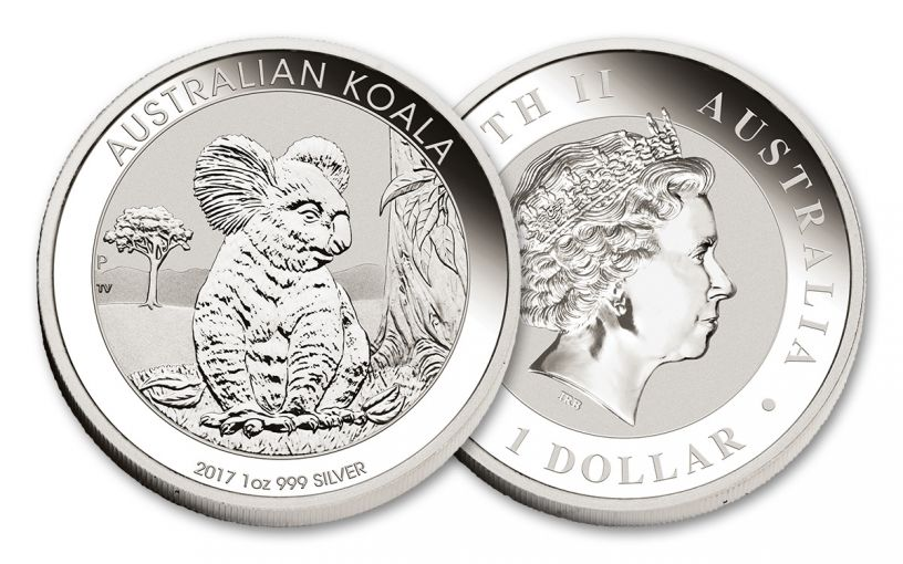 2017 Australia 1 Dollar 1-oz Silver Koala BU