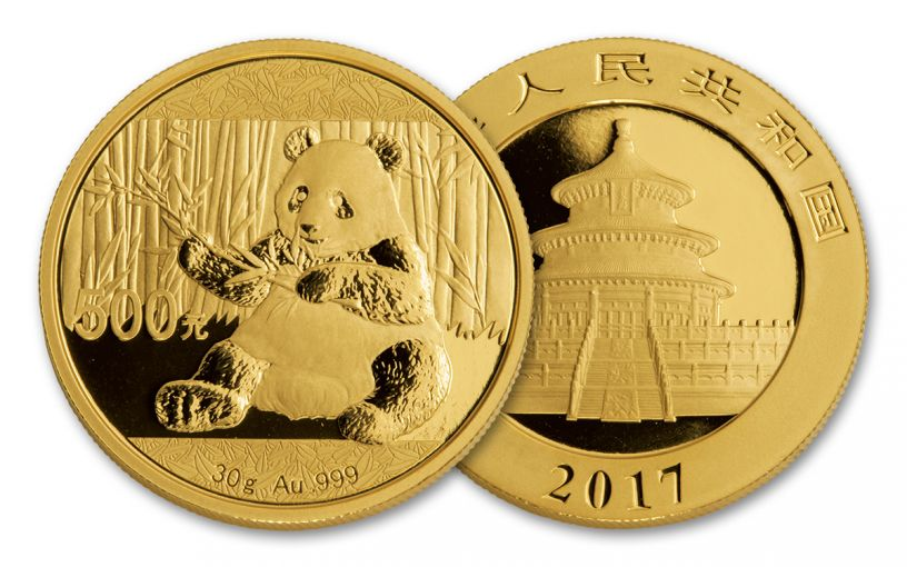 2017 China 30 Gram Gold Panda Brilliant Uncirculated Coin
