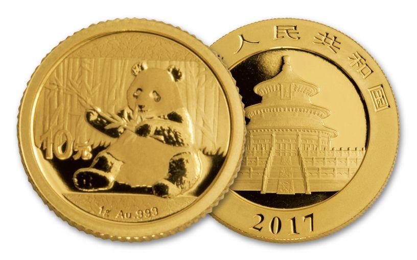 2017 1-Gram Gold Panda BU