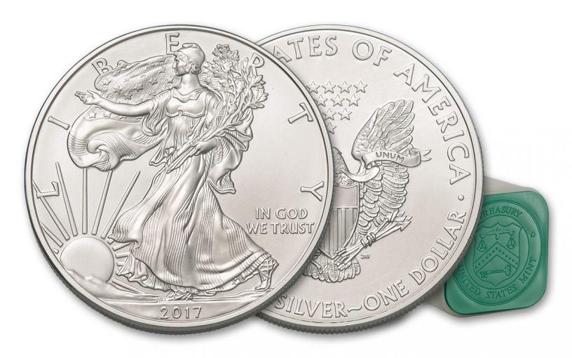 2017 1 Dollar 1-oz Silver Eagle BU 20-Coin Roll