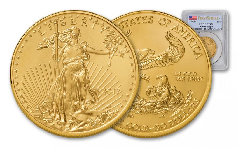 2017 50 Dollar 1-oz Gold Eagle PCGS MS70 First Strike