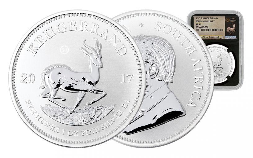 2017 South Africa Silver Krugerrand NGC SP70 - Black