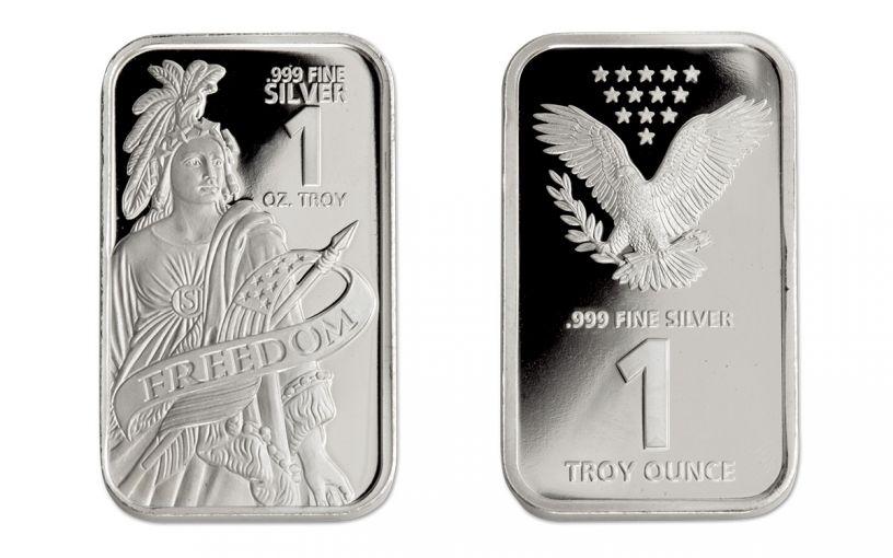1-oz Silver Freedom Bar Proof-Like