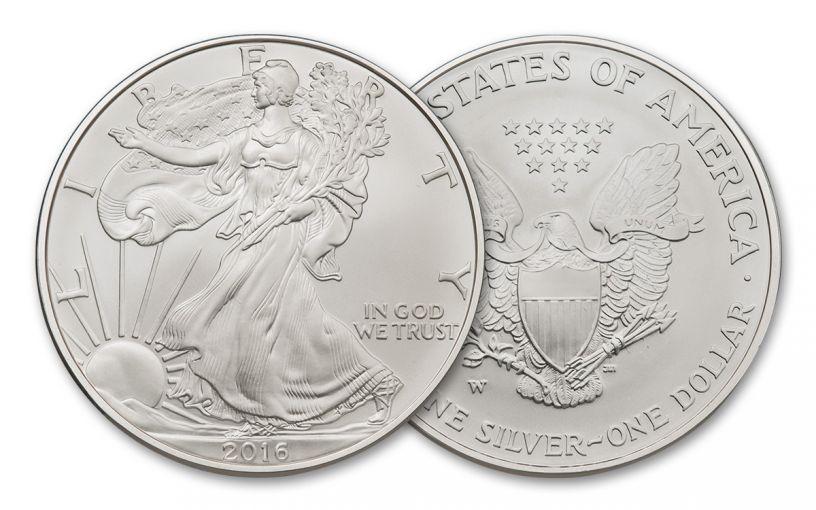 2016-W 1 Dollar 1-oz Silver Burnished Eagle BU