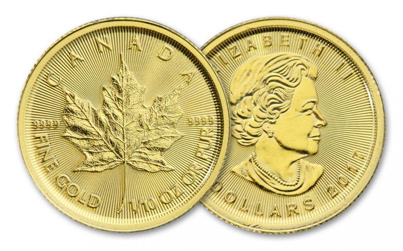 2017 Canada 5 Dollar 1/10-oz Gold Maple Leaf BU