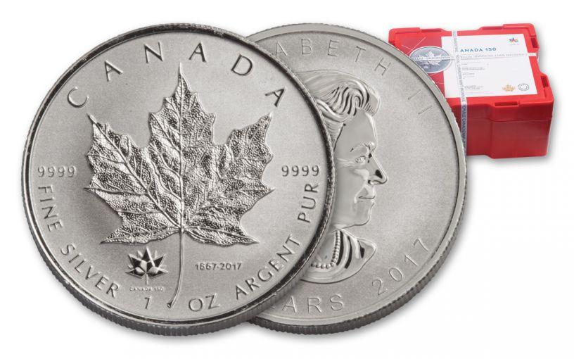 2017 Canada 1 Oz Silver Maple Leaf 150th Reverse Proofs