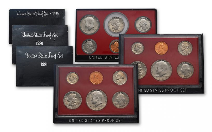 1979-1981 U.S. Proof Set 3-Pc Collection