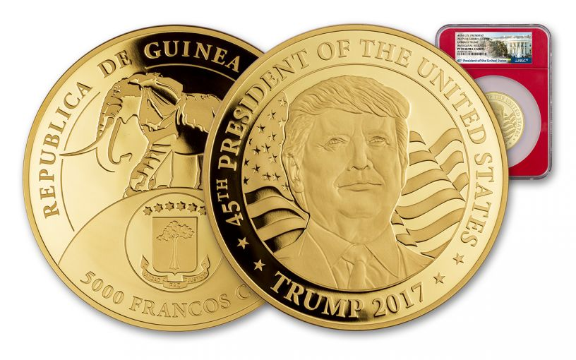2017 1-oz Gold Donald Trump Inaugural Proof NGC PF70UCAM