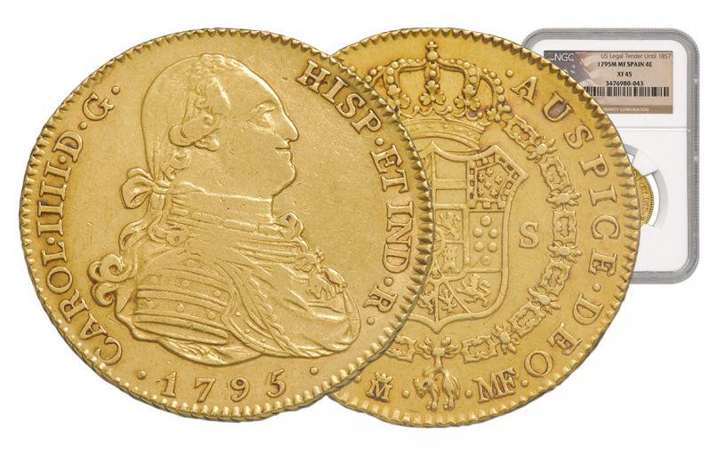 1772-1820 Spain Gold 4 Escudo NGC XF