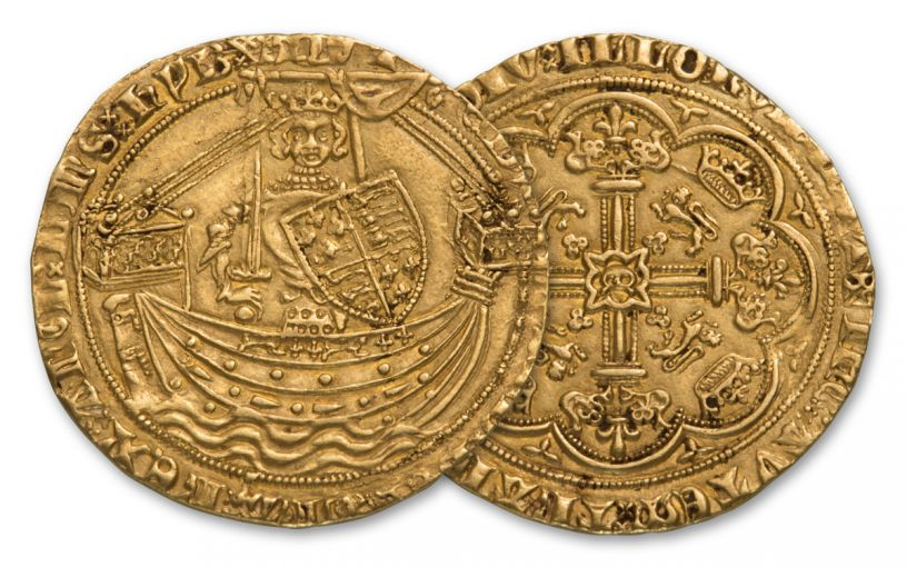 1360-1369 Great Britain Gold Noble Edward III XF