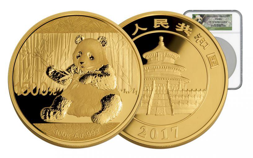 2017 China 100 Gram Gold Panda NGC PF70UCAM