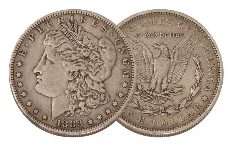 1883-P Morgan Silver Dollar VF