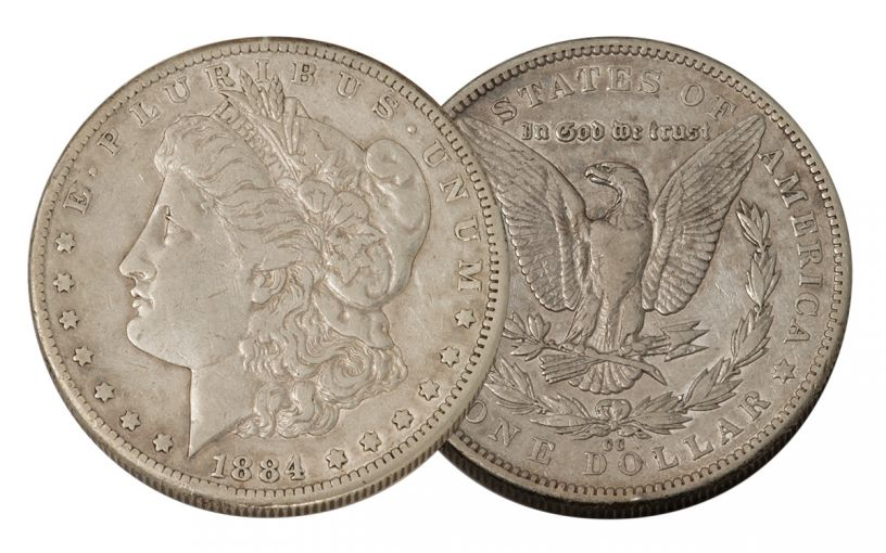 1884-CC Morgan Silver Dollar VF