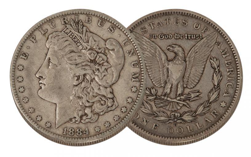 1884-O Morgan Silver Dollar VF