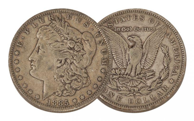 1885-O Morgan Silver Dollar VF