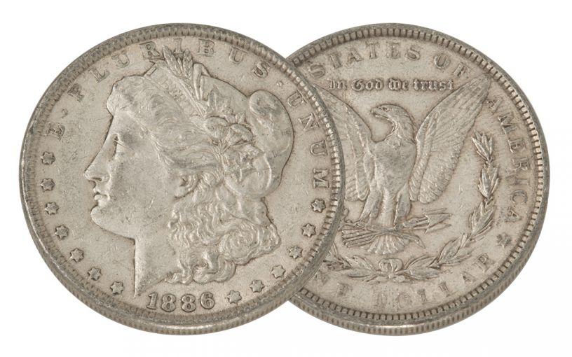 1886-P Morgan Silver Dollar VF
