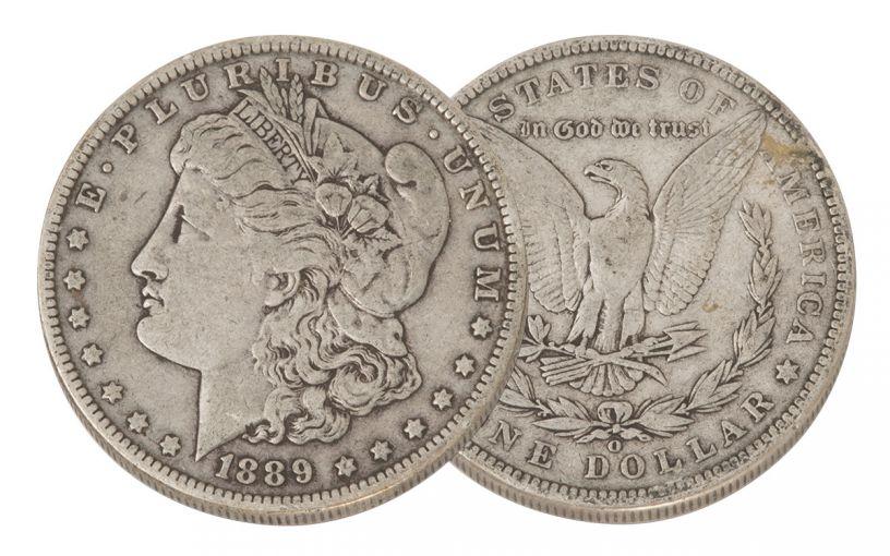 1889-O Morgan Silver Dollar VF