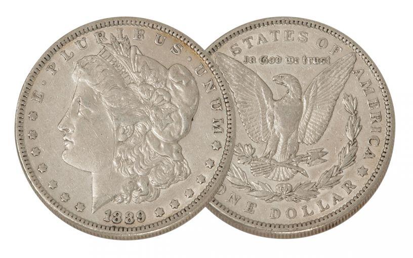 1889-P Morgan Silver Dollar VF