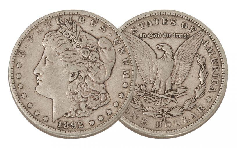 1892-CC Morgan Silver Dollar VF