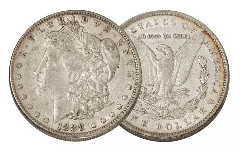 1888-P Morgan Silver Dollar XF