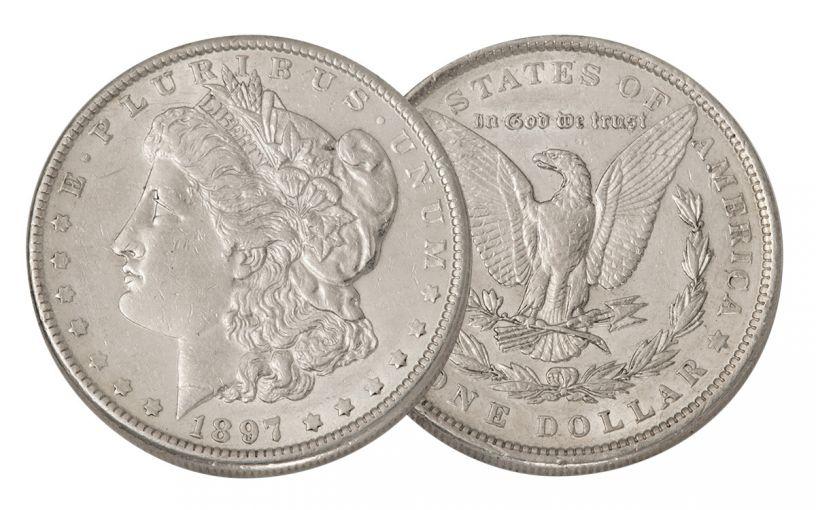 1897-P Morgan Silver Dollar XF